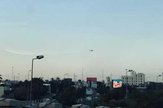 رواز پهپادها و بالگردها بر فراز بغداد